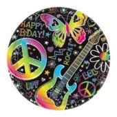 """Neon Doodle 7"""" Plates"""