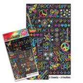 Neon Doodle Stickers