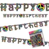Neon Retro Birthday Letter Banner