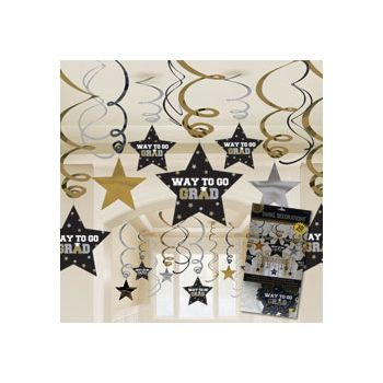 GRADUATION STAR SWIRLS
