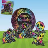 Neon Doodle Balloon Centerpiece