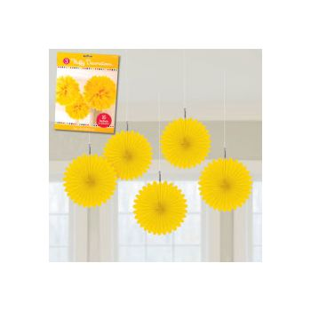 YELLOW MINI  HANGING FANS