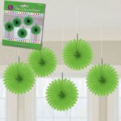 Green Mini Hanging Fans-5 Pack