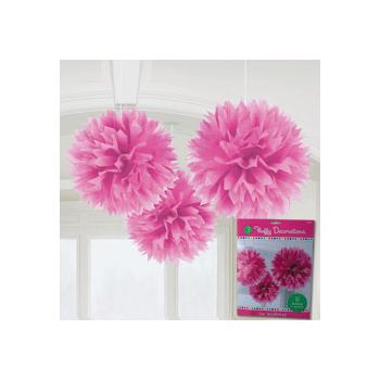 PINK FLUFFY DECORATIONS