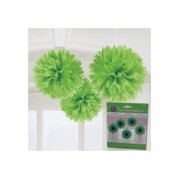 GREEN FLUFFY DECORATIONS