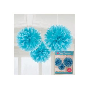 BLUE FLUFFY DECORATIONS