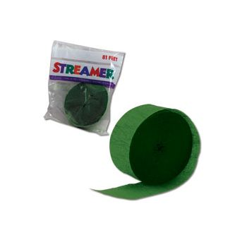 Green Crepe Paper Streamer