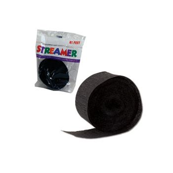 Black Crepe Paper Streamer