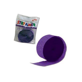 Purple Crepe Paper Streamer