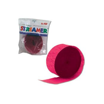 Hot Pink Crepe Paper Streamer