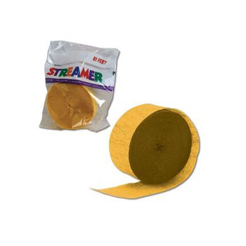 Yellow Crepe Paper Streamer