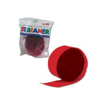 Red Crepe Paper Streamer