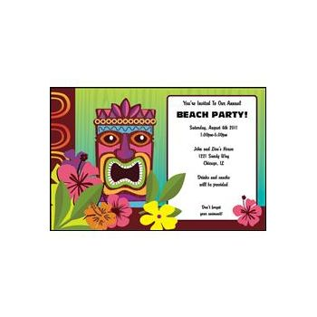 Tropical Tiki Personalized Invitations