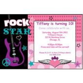 Rocker Girl Personalized Invitations