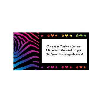 Neon Retro Birthday Custom Banner
