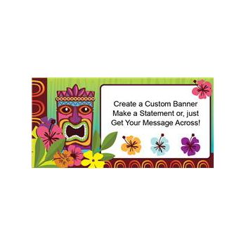 Tropical Tiki Custom Banner
