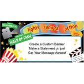 Lights Camera Action Custom Banner