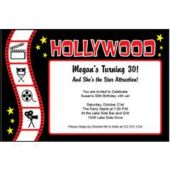 Hollywood Film Strip Personalized Invitations