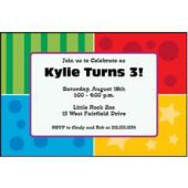 Colorful Corners Personalized Invitations