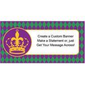Mardi Gras Crown Custom Banner
