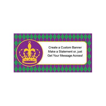 Mardi Gras Crown Custom Banner