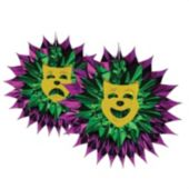 Mardi Gras Fan Burst Decoration