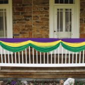 Mardi Gras Fabric Bunting Decoration