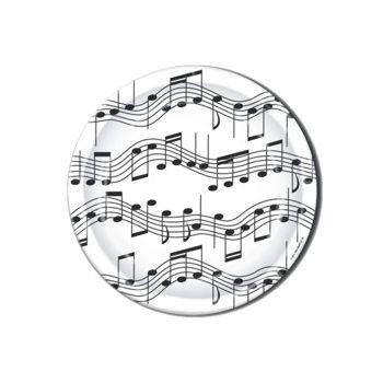 "Musical Notes 9"" Plates"