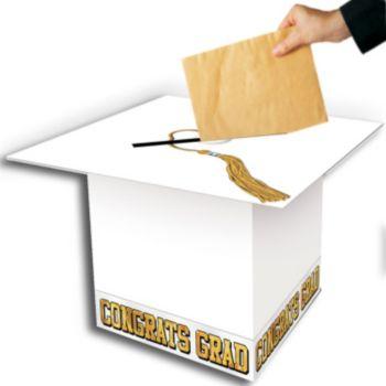 GRADUATION CAP  WHITE GIFT BOX