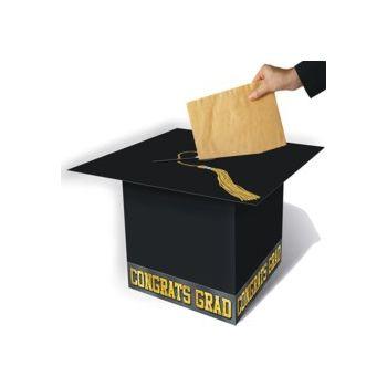 GRADUATION CAP  BLACK GIFT BOX