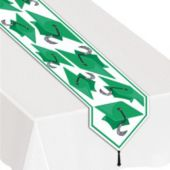 Green Graduation Table Runner