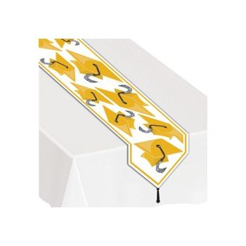 YELLOW GRADUATION TABLE RUNNER