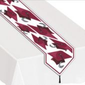 Maroon Graduation Table Runner