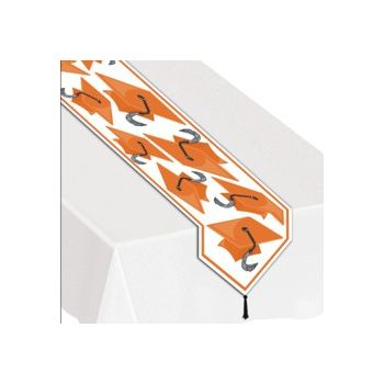 ORANGE GRADUATION TABLE RUNNER