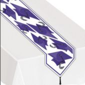 Purple Graduation Table Runner