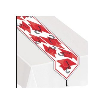 RED GRADUATION TABLE RUNNER