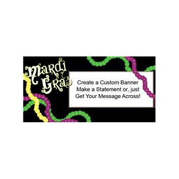 Mardi Gras Party Custom Banner