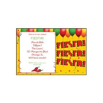 Fiesta Party Custom Made Invitations