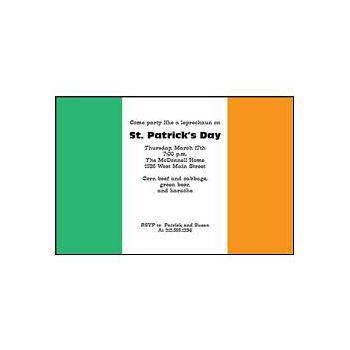 Irish Flag Personalized Invitations