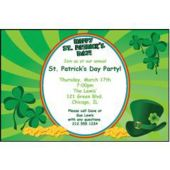 St Patrick's Day Green Personalized Invitations