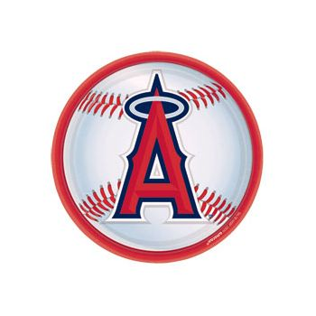 "LOS ANGELES ANGELS 9"" PLATES"