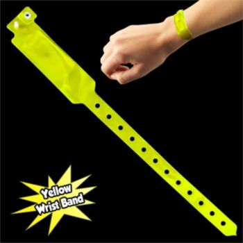 YELLOW SECURITY WRIST BANDS