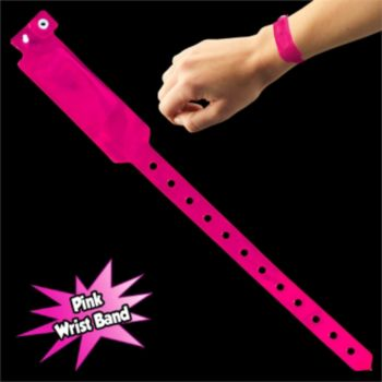 PINK SECURITY WRIST BANDS