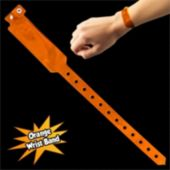 Orange Security Wrist Bands - 100 Pack
