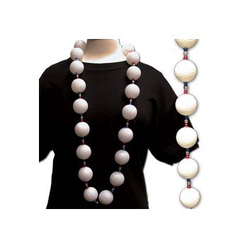Golf Ball Bead Necklace - 46 Inch