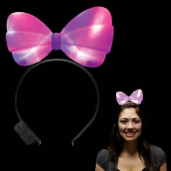 Pink LED Bow Headband