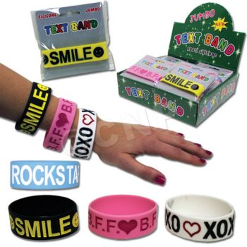 TEXT MESSAGE BRACELETS, 24 PACK
