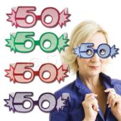 50 Glitter Foil Glasses - 25 Pack