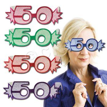 50 GLITTER FOIL GLASSES