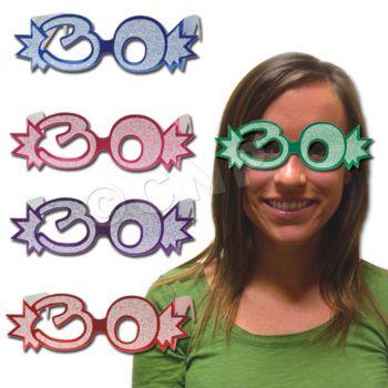 30 GLITTER  FOIL GLASSES